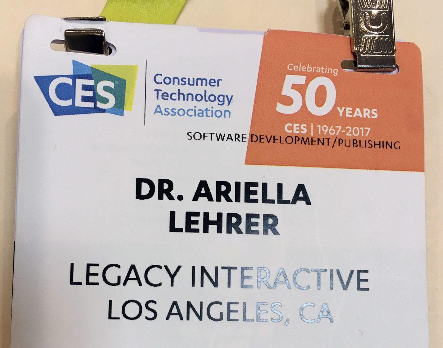 CES 2017 badge
